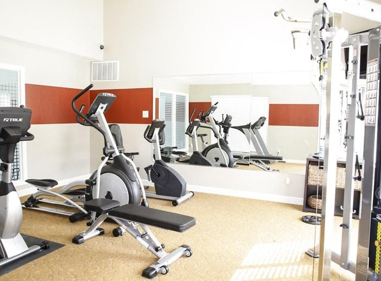 Fitness Center with Updated Equipment at Hawthorne House, Midland, TX