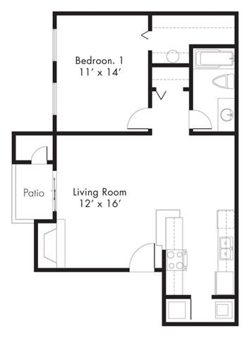 Floor Plan at Hawthorne House, Midland, TX