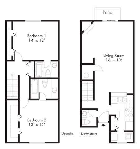 Floor Plan at Hawthorne House, Texas