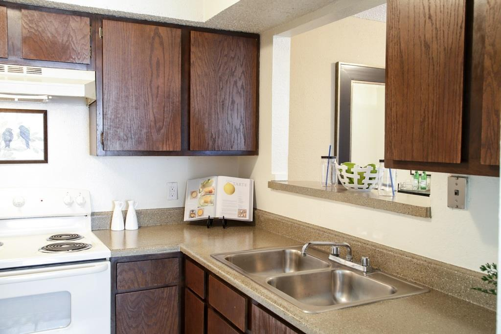 Double Stainless Steel Sink at University Gardens, Texas, 79761