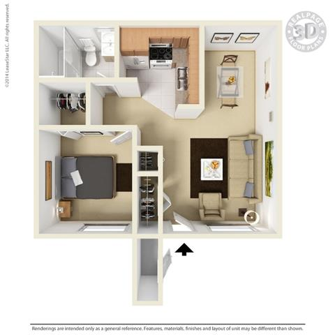 Floor Plan At University Gardens, Odessa, Texas Pictures Gallery