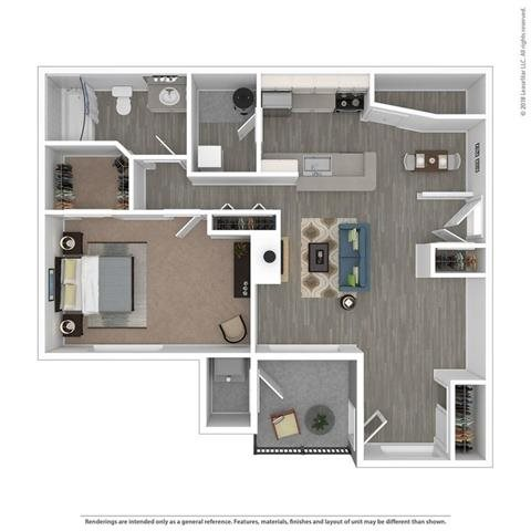 Floor Plan at Orion Main Street, Michigan, 48103
