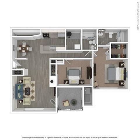 Floor Plan at Orion Main Street, Ann Arbor, MI, 48103