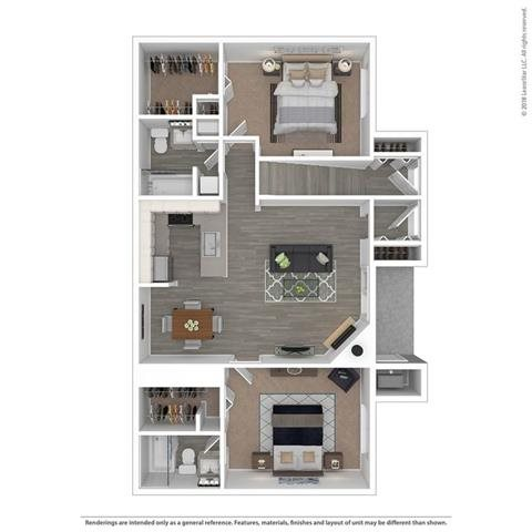 Floor Plan at Orion North Star, Ann Arbor