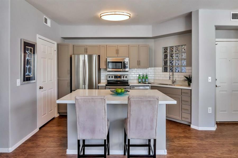 Kitchen with Breakfast Bar at Citi on Camelback, Phoenix, 85014