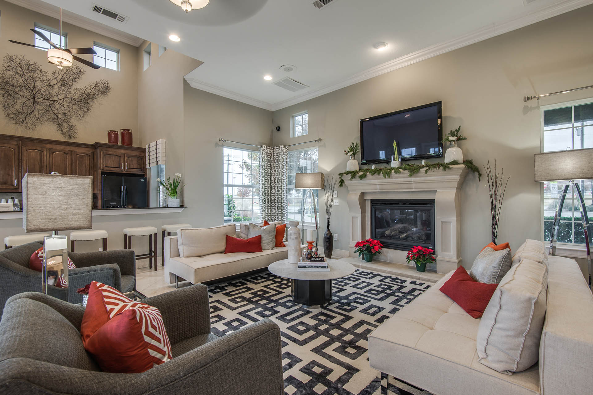 Fireplace Available at Orion Prosper, Texas