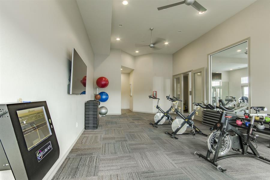 Fitness Center with Separate Spin Room at Chelsea on Southern, Dallas, Texas