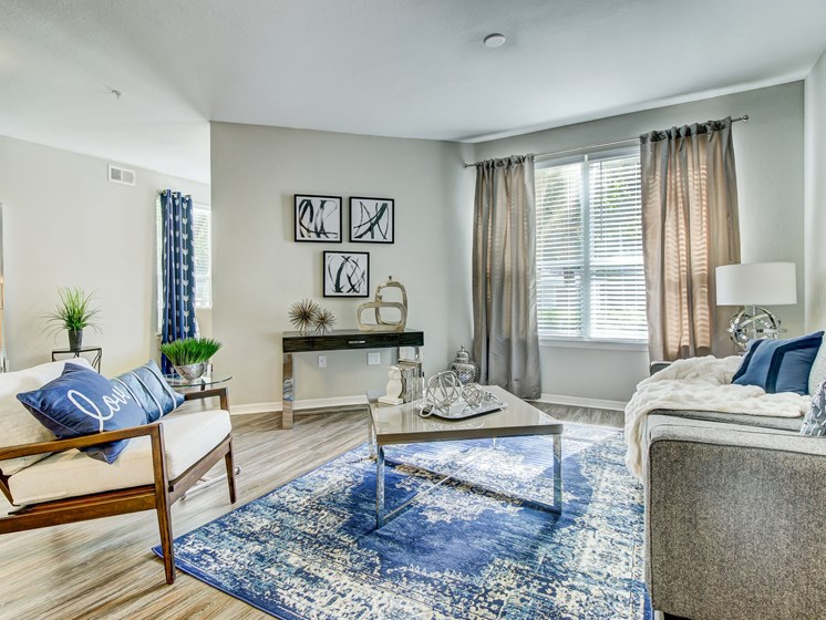 Living Room With Expansive Window at Tuscany Bay Apartments, Florida, 33626