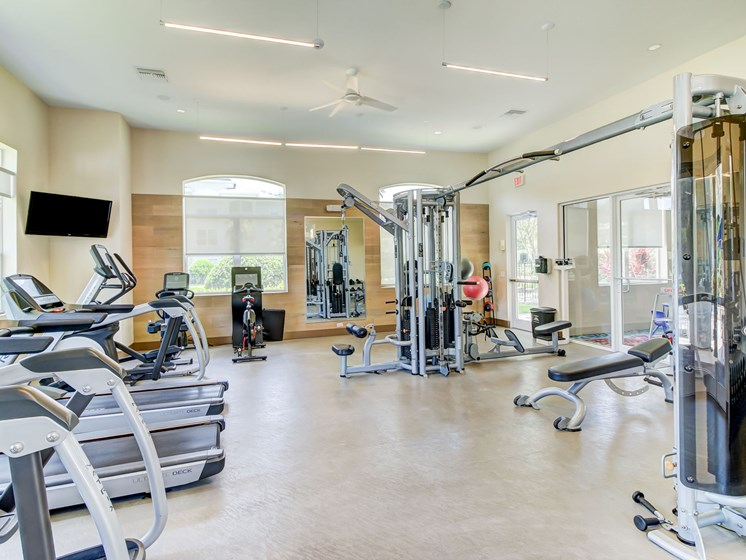 Fitness Center With Updated Equipment at Tuscany Bay Apartments, Tampa