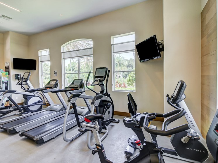 Fitness Center With Modern Equipment at Tuscany Bay Apartments, Florida