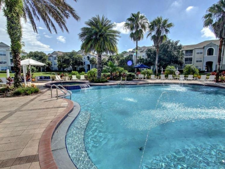 Sparkling Swimming Pool Area at Tuscany Bay Apartments, Tampa, 33626