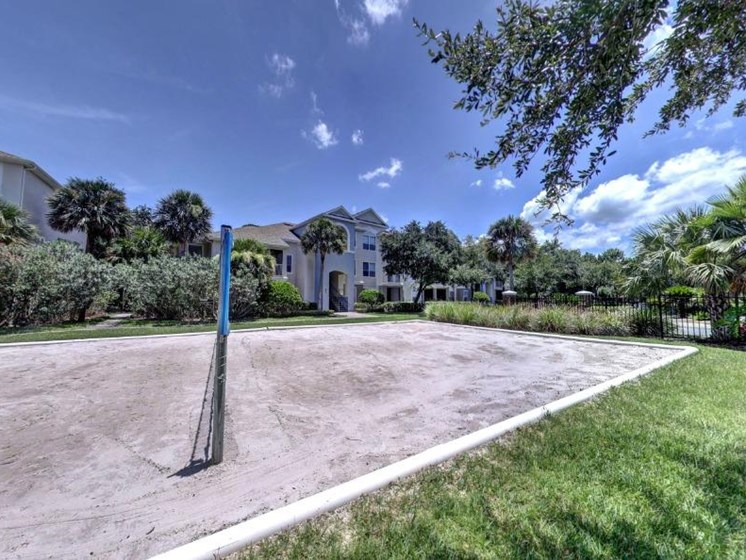 Volleyball court at Tuscany Bay Apartments, Tampa, 33626