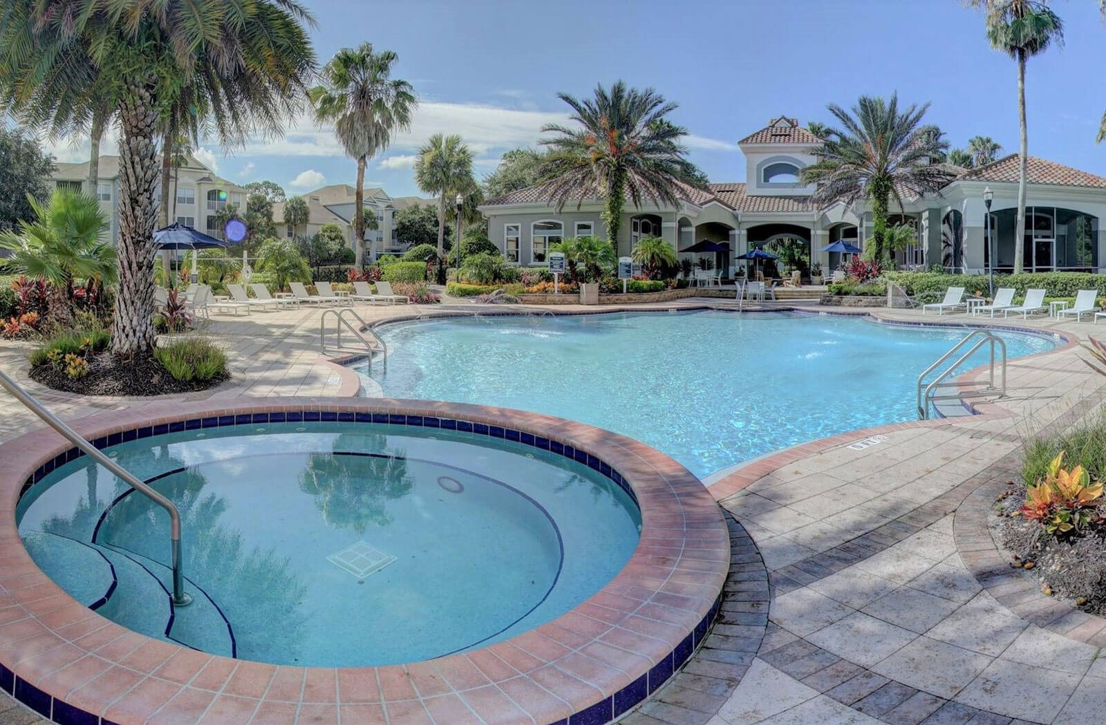 Clubhouse Sparkling Pool and Spa at Tuscany Bay Apartments, Tampa, 33626