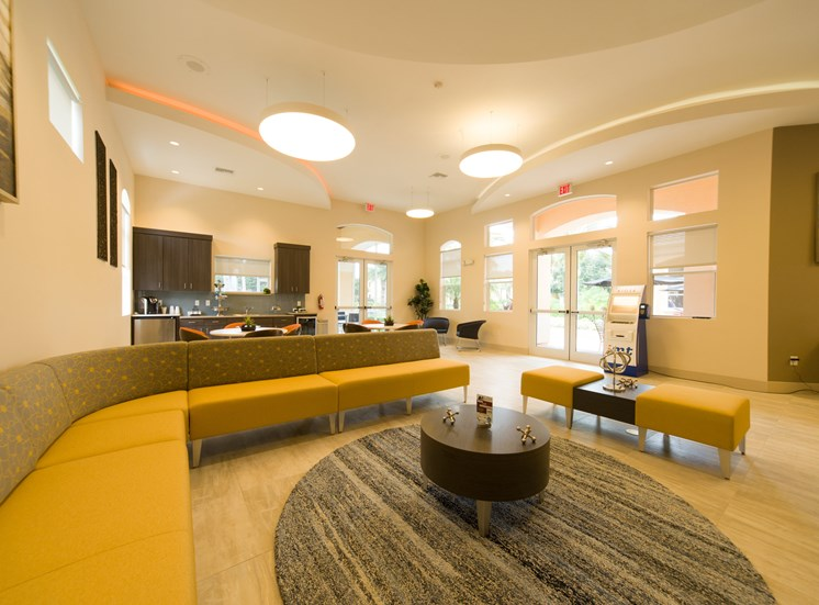 Resident Clubhouse with Coffee Bar at Tuscany Bay Apartments, Tampa, Florida