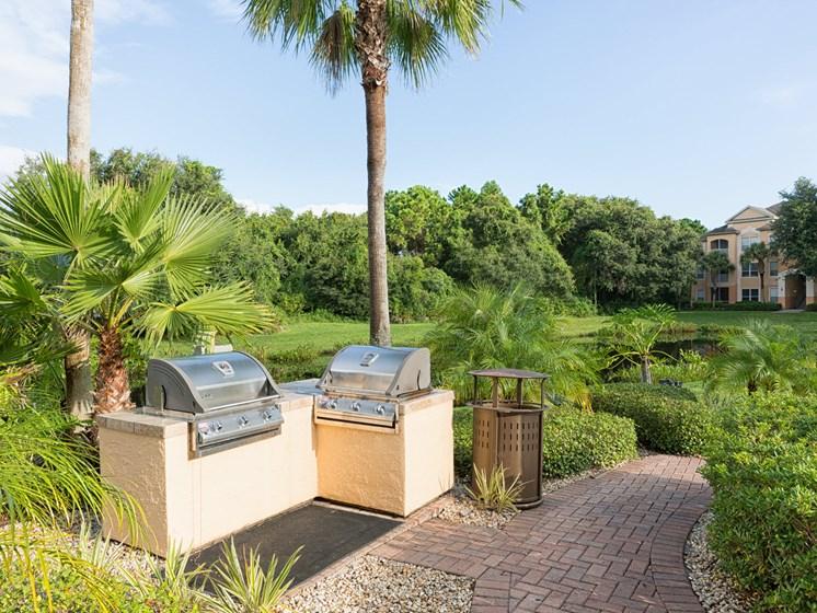Grilling Station at Tuscany Bay Apartments, Tampa