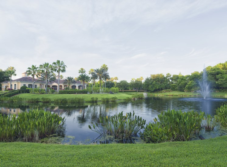 Beautiful Pond at Tuscany Bay Apartments, Tampa, FL, 33626
