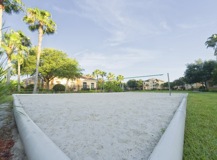 Sand Volleyball Court at Tuscany Bay Apartments, Florida, 33626