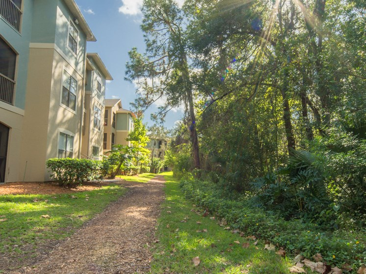 Landscaped Pathway at The Preserve at Westchase, Tampa, 33626