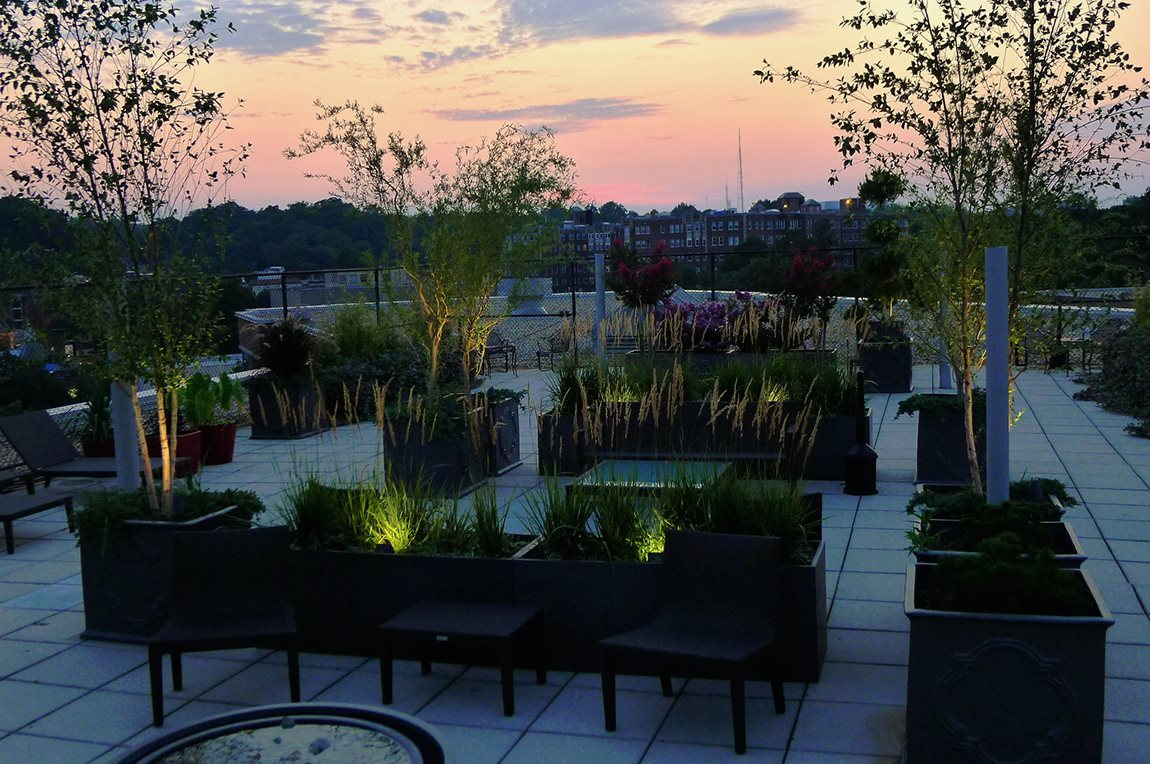 Rooftop Sundecks with Gorgeous Views at Quebec House, Washington, DC
