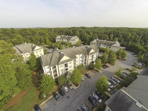 Aerial View of Creekside Crossing Apartment Homes in Lithonia, GA