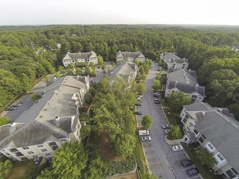 Aerial Image of Creekside Crossing Apartment Homes Lithonia, GA