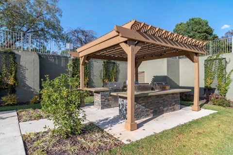Grilling Center with Pergola