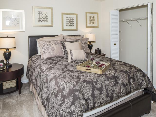 Furnished Bedroom | Landmark at Bella Vista Apartment Homes Duluth, GA