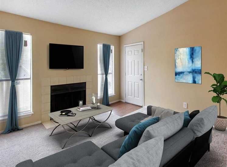 Living Room   Landmark at Grayson Park Apartment Homes   Tampa, FL