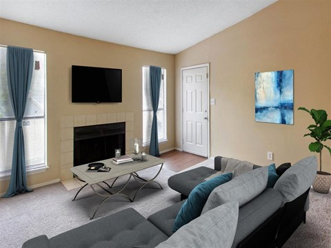 Living Room | Landmark at Grayson Park Apartment Homes | Tampa, FL