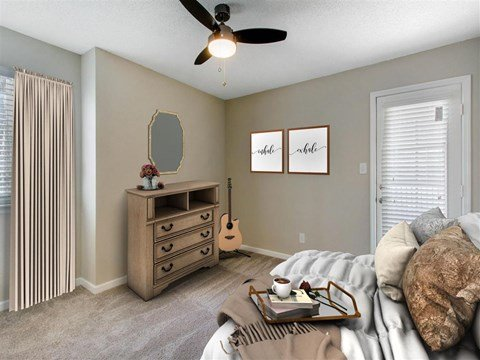 Bedroom | Landmark at Grayson Park Apartment Homes | Tampa, FL