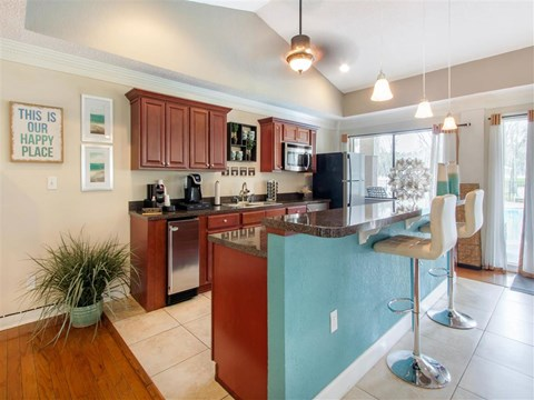 Clubhouse with Kitchen | Landmark at Grayson Park Apartment Homes | Tampa, FL