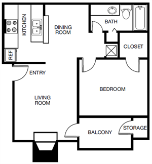 The Willow (A2) floor plan.