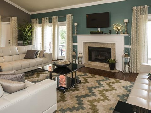Lounge Area with Fireplace | Landmark at Lyncrest Reserve Apartment Homes Nashville, TN