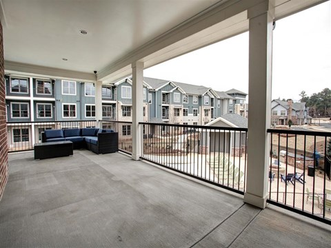 Park 9 Apartment Homes | Apartments for Rent in Woodstock, GA | Clubhouse Balcony
