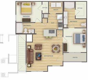B1U floor plan.