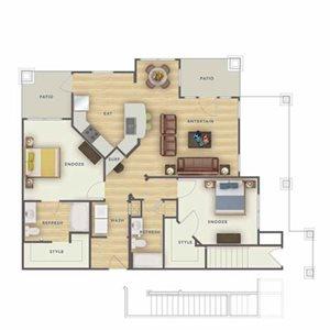 B2U floor plan.