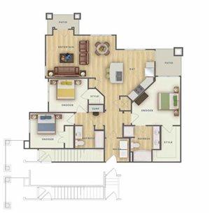 C1U floor plan.