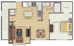 CHU floor plan.