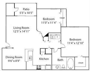 The Medinah floor plan