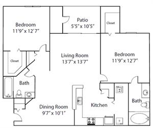 The Pinehurst floor plan