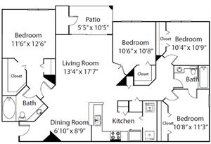 The Pine Valley floor plan