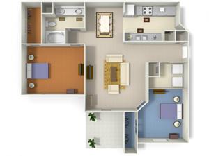 Augusta (B1) floor plan.