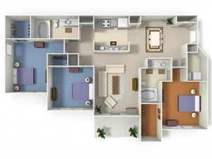 Rivermont (C1) floor plan.