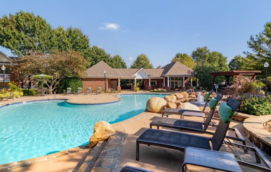 Village at Almand Creek Apartments | Swimming Pool with Loungers