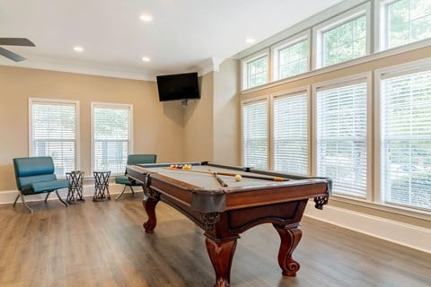 Clubhouse Interior with Pool Table
