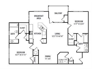 B6 floor plan.