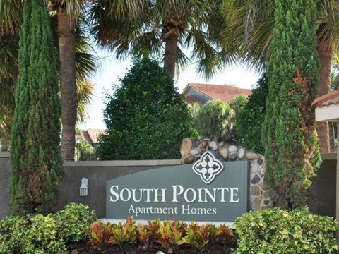 South Pointe | Apartments For Rent in Tampa, FL | Front Entrance Sign