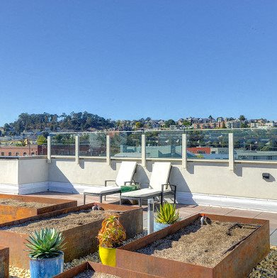 Rooftop Firepits at The Gantry, San Francisco, California