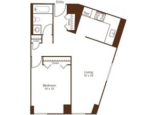 Ellicott House Floor Plan A 1 Bedroom 1 Bath