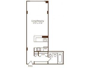 S floor plan Loft Style